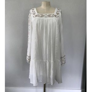 White embroidered summer dress size small target